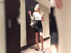 Hot Agony aunt Undresses plus Masturbate Pussy after Work
