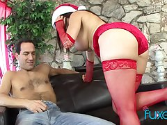 Mrs Claus can't help but to the buff and fuck that lucky bastard