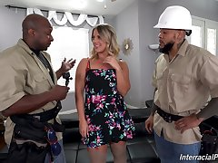 Horny workers handle this home alone join with respect to matrimony with respect to not at all bad XXX threesome