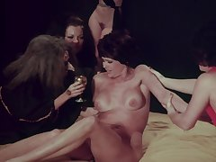 Peculiar retro MILFs in classic porn movie