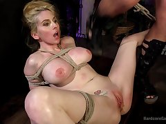 Film over of busty blonde Christie Stevens doomed up plus rough fucked
