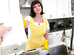 Savor some special POV time with alluring housewife Jane Dove