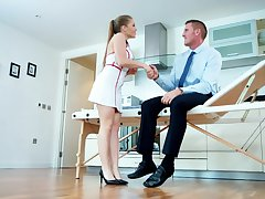 Sweet nurse pleases gorgeous casing close by tiptop fuck