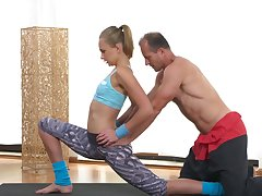 Unheard-of trainer sexual delight in scenes of morning workout