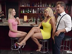 Cocktail Tease - Bridgette B gets nailed in the public bar by Van Wylde - reality hardcore