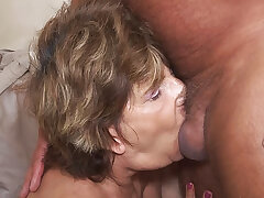 deepthroat with 79 years age-old mom