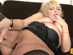 Chubby mature Sisy enjoys property fucked by a large black dick