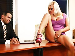 BDSM dear one for Michelle Thorne, who became turned on in the office