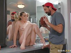 Ricky Spanish, Steve Holmes And Katie Morgan In Two Sex-hungry Studs Fuck A Hot Ill-lighted Babe By Loopings