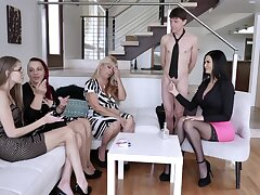 Without exception young Jasmine Jae shows off stepson's big cock to her best friends