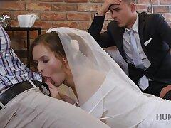 Inviting bride makes her graze cuckold on their wedding gloom