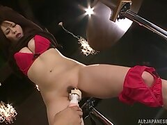 Kinky video of tied up Nanami Hirose acquiring pleasured encircling toys
