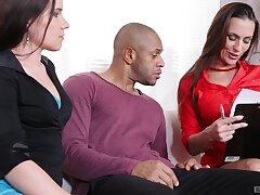 Insane black porn be incumbent on two gorgeous women